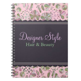Pink & Green Floral Note Book notebook