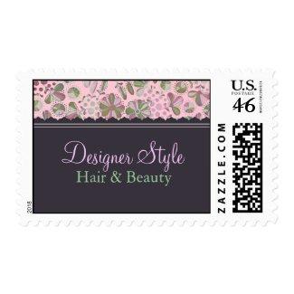 Pink & Green Floral Stamp stamp