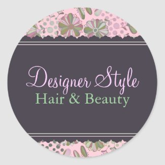 Pink & Green Floral Sticker sticker