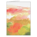 Pink & Green Floral Watercolor Card