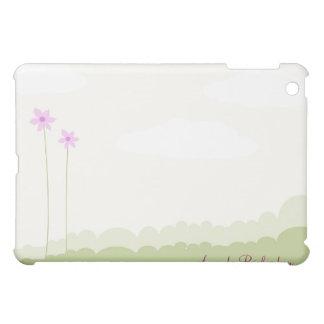 Pink & Green Flowers Designer Personalized Ca iPad Mini Cases