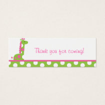 Pink Green Giraffe Party Favor Gift Tags