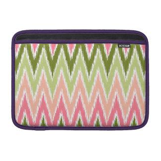 Pink Green Ikat Chevron Zig Zag Stripes Pattern Sleeves For MacBook Air