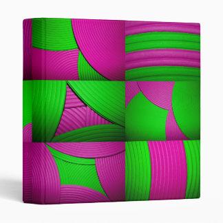 """Pink & Green Kaleidoscope 1"""" Avery Binder"""
