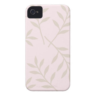Pink Green Leaves Pattern Blackberry Case-Mate iPhone 4 Cover