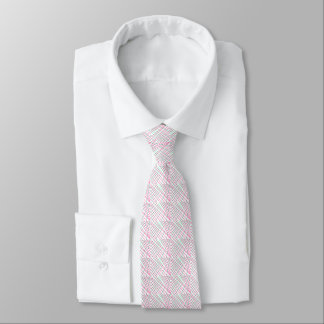 Pink Green Lines, Kids Art,Drawing Painting Neck Tie