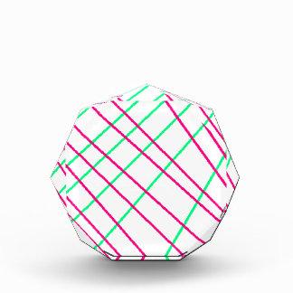 Pink Green Lines, Kids Art, Geometry Painting Acrylic Award