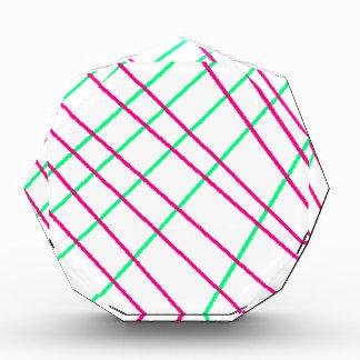 Pink Green Lines, Kids Art, Geometry Painting Award