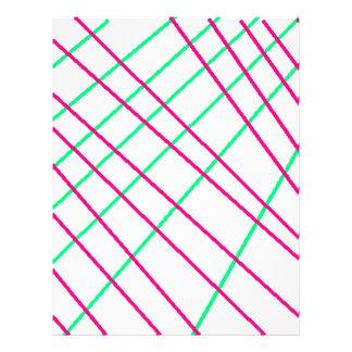 Pink Green Lines, Kids Art, Geometry Painting Letterhead