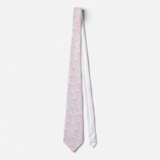 Pink Green Lines, Kids Art, Geometry Painting Neck Tie