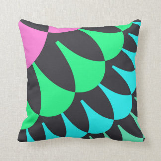 Pink/Green Lotus Pond Scale Pattern Pillow