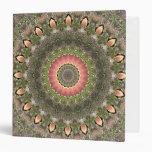 Pink & Green Mandala Design 3 Ring Binder