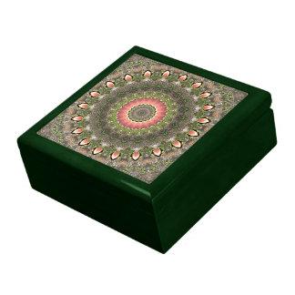 Pink & Green Mandala Design Keepsake Box