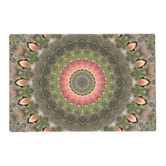 Pink & Green Mandala Design Placemat
