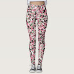 "Pink &amp; Green Micro Camo Leggings<br><div class=""desc"">Pink and green micro camouflage pattern leggings in pink,  black,  green and white colors are functional,  feminine. they can be worn in the gym,  in yoga class,  in the field or for everyday wear. they&#39;re very versatile!</div>"
