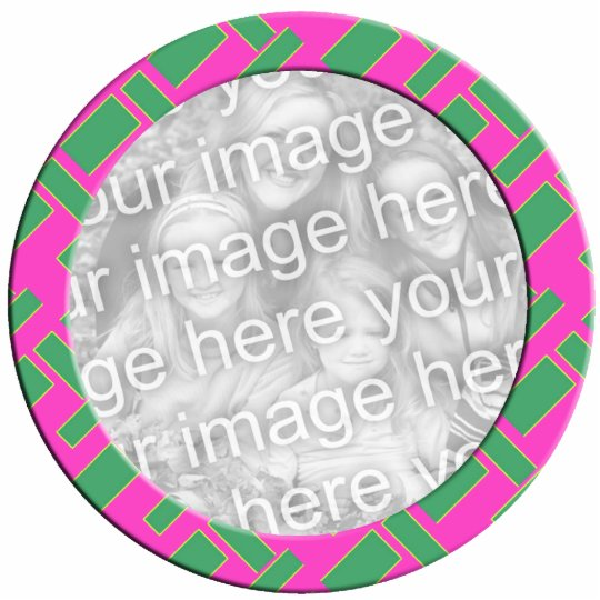 pink green mod photoframe cutout