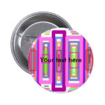 Pink green multicolored rectangles buttons