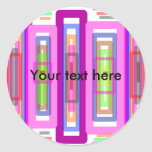 Pink green multicolored rectangles stickers