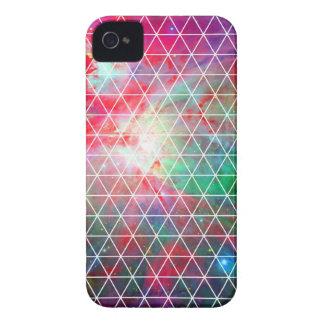 Pink Green Nebula Net Pattern iPhone 4 Case