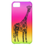 Pink & Green Neon Giraffe Cover For iPhone 5C