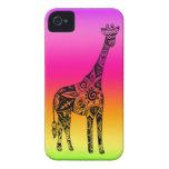 Pink & Green Neon Giraffe iPhone 4 Covers