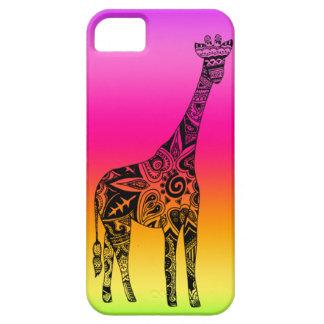 Pink & Green Neon Giraffe iPhone 5 Covers