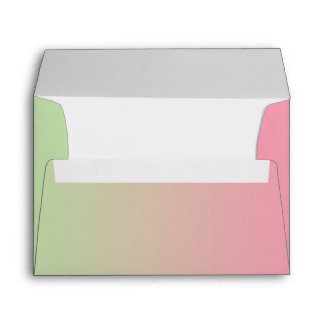 Pink & Green Ombre A7 Envelope