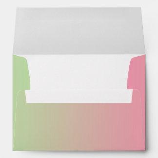 Pink & Green Ombre Envelopes