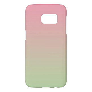 Pink & Green Ombre Samsung Galaxy S7 Case