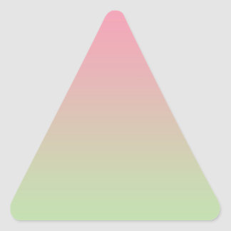 Pink & Green Ombre Triangle Sticker