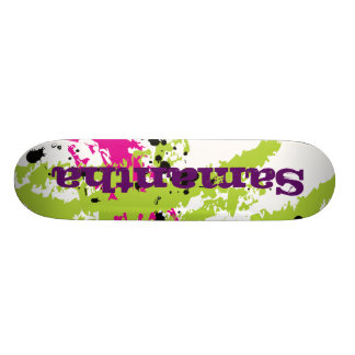Pink Green Paint Splash Ink Comp Skateboard