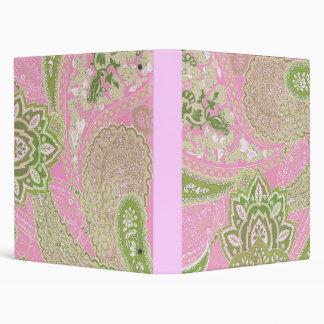 Pink & Green Paisley Binder