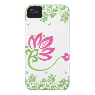 Pink & Green Paisley Pocket Case for iPhone4