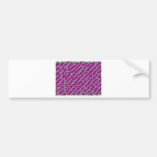 Pink & Green - Pattern Bumper Sticker