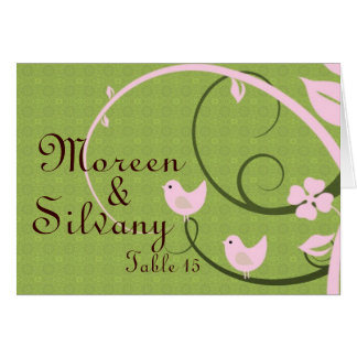 pink & green placecard card
