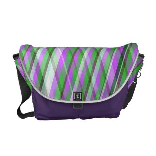 Pink & Green Plaid Messenger Bag