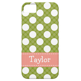 Pink Green Polka Dot iPhone 5 Cases