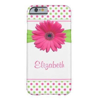 Pink Green Polka Dot Gerbera Daisy iPhone 5 Case iPhone 6 Case