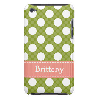 Pink Green Polka Dot iPod Touch 4th Gen Case Cover