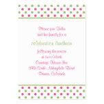 Pink Green Polka Dots Bat Mitzvah Reception Card Business Card