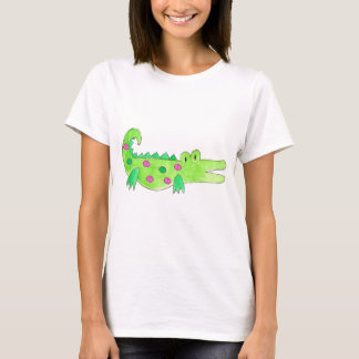 Pink & Green Preppy Alligator T-Shirt