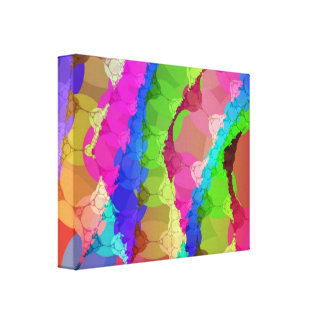 Pink Green Purple Abstract Canvas Print