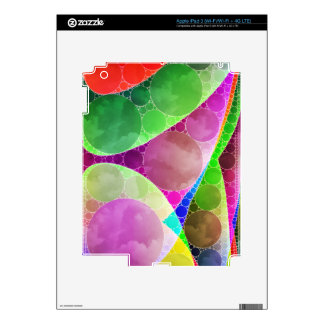 Pink Green Purple Abstract Decal For iPad 3
