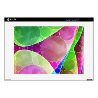 Pink Green Purple Abstract Laptop Decals
