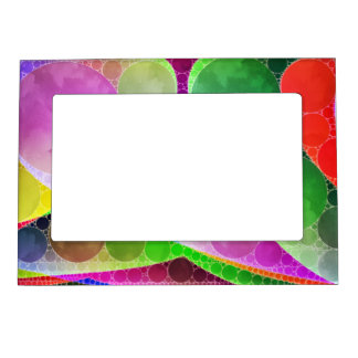 Pink Green Purple Abstract Magnetic Frame