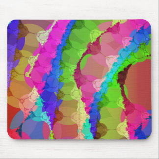 Pink Green Purple Abstract Mouse Pad