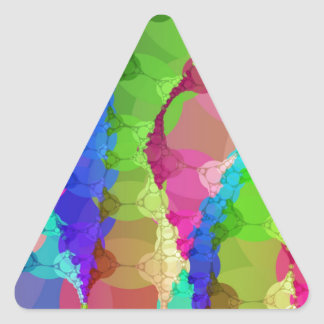 Pink Green Purple Abstract Triangle Sticker