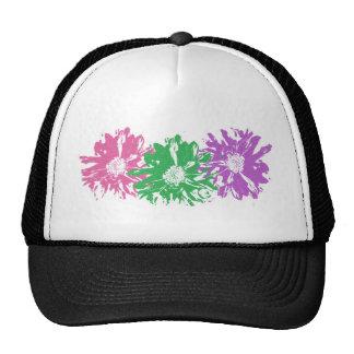 Pink, Green, Purple Floral Motif Trucker Hat