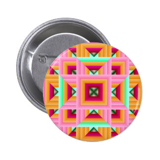 Pink Green Quilt Pattern 3 Pinback Buttons