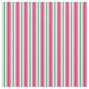 Pink Green Red And Striped Fabric